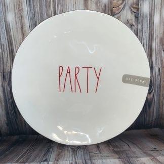 Rae Dunn PARTY Melamine plate