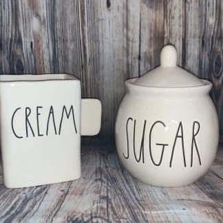 Rae dunn cream and sugar set