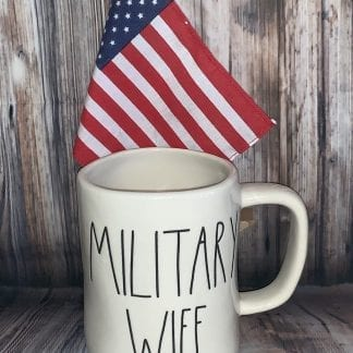 Rae Dunn military wife mug