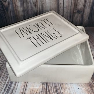 Rae Dunn favorite things trinket box