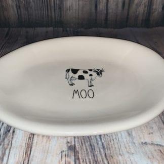 Rae dunn moo plate