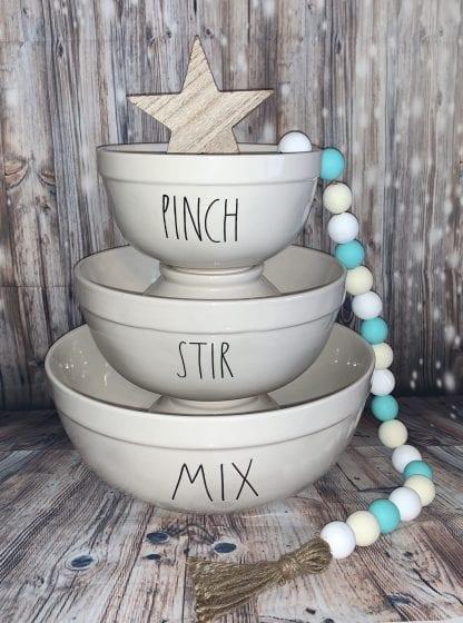Rae Dunn Pinch stir mix mixing bowl set