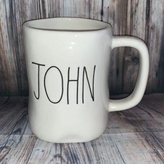 Rae Dunn John mug