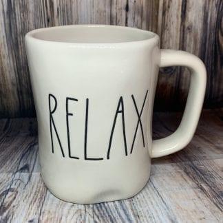 Rae Dunn RELAX mug