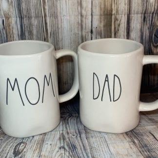 Rae Dunn Mom and Dad Mug Set