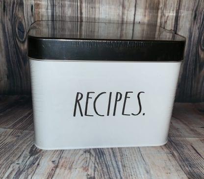 Rae Dunn recipe box