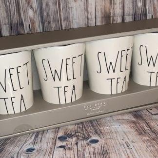 Rae Dunn Sweet Tea melamine tumblers, set of 4