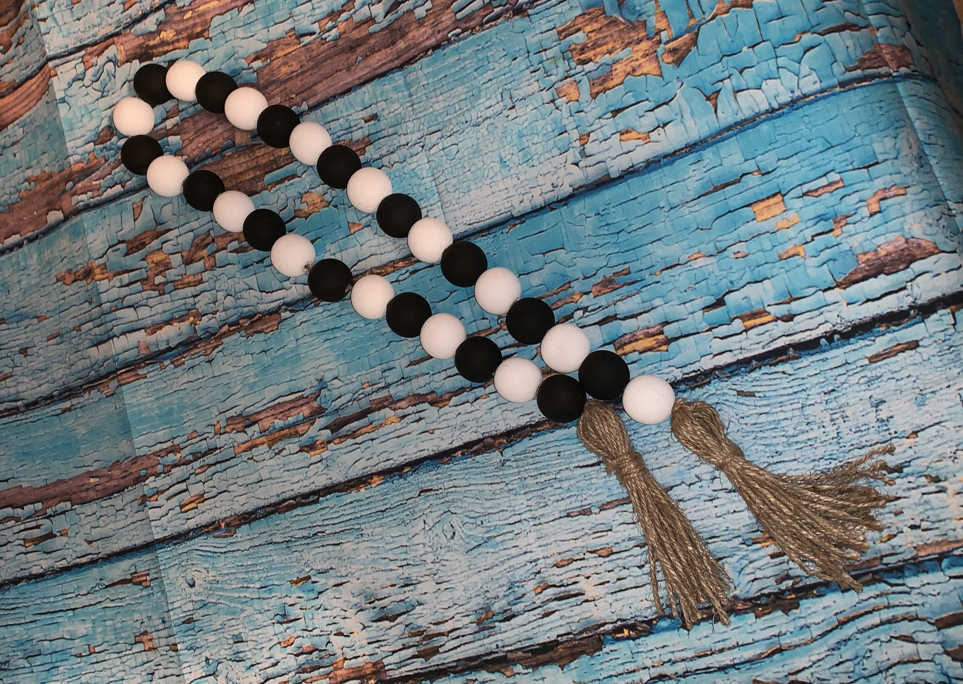 Black And White Wood Bead Garland Buy Rae Dunn