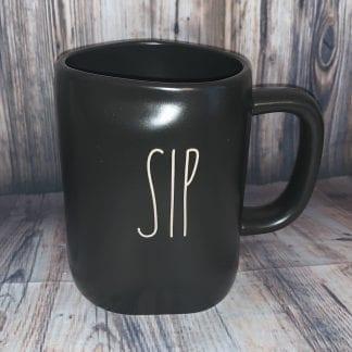 Rae Dunn black ceramic sip mug