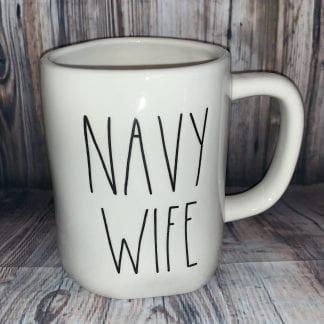Rae Dunn Navy Wife Mug