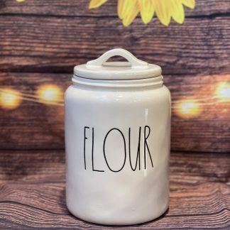 rae dunn flour canister
